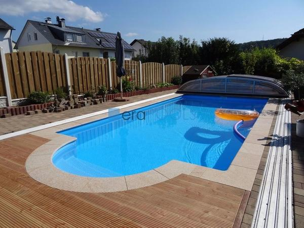 gfk pool 7m berdachung schwimmbecken einbaubecken gartenpool mit dach halle in radomsko. Black Bedroom Furniture Sets. Home Design Ideas
