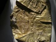 goldene Jacke echt Leder Gr