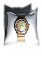 Goldene Junghans Armbanduhr