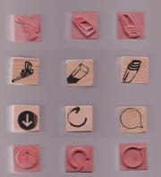 Handliche Stempel - 6 verschiedene Motive