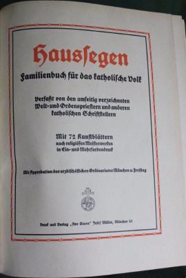 Haussegen- Familienbuch für s katholische Volk: Kleinanzeigen aus Niederfischbach - Rubrik Fach- und Sachliteratur