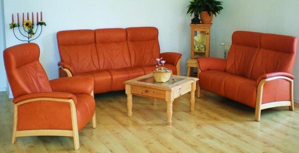 himolla leder longlife sessel 2er couch relax 3er couch fest mit echtbuchegestell gebraucht. Black Bedroom Furniture Sets. Home Design Ideas