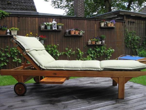 Hochwertige Luxuriöse Teakholz-gartenliege In Karben - Gartenmöbel ... Teak Gartenmobel Outdoor Hochwertig