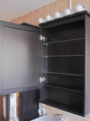 Ikea spiegelschrank hemnes  Ikea 'HEMNES' Spiegelschrank schwarzbraun + 'LEDSJÖ' Lampe in ...