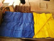 Kinder-Schlafsack unbenutzt blau-gelb