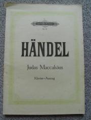 Klavierauszug Judas Maccabäus