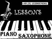 Klavierunterricht und Saxophonunterricht