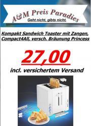 Kompakt Sandwich Toaster