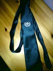 Krawatte - bestickt - blau -