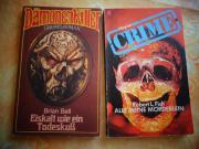 Krimi Gruselroman 2 Stück