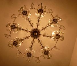 Bild 4 - Kristalllüster antik Lampe Lüster Leuchter - München