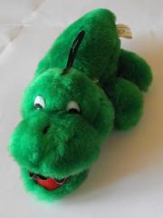 Krokodil grün mit Saugnapf oder