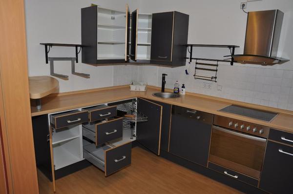 küche in grau/buche mit herd & miele-geschirrspüler zu verkaufen ... - Küche Mit Geschirrspüler