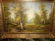 Landschaftsbild mit Rahmen