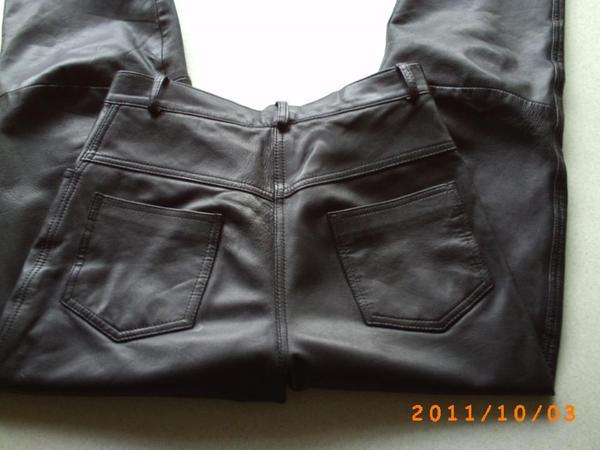 Lederhose schwarz Gr 38
