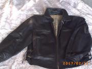Lederjacke schwarz Größe