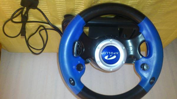 Lenkrad Racing Wheel für PS2 Apollo Monte Carlo - Pommelsbrunn - Apollo Monte Carlo Racing Wheel für PS 2 oder Computer, Lenkrad - Farbe: blau, schwarz/ silber ~ sauber, gut erhalten, wegen Platzmangel günstig zu verkaufen!!! - Pommelsbrunn