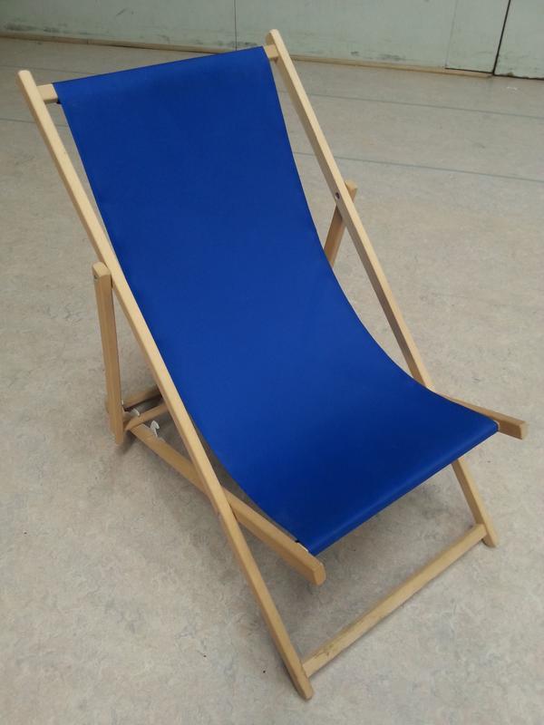 Liegestuhl aus Holz, Strandliege, Sonnenliege, neu und OVP in ...