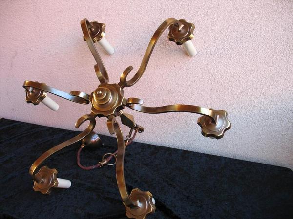 Kronleuchter Lampe ~ Lüster lampe leuchte hochwertig kronleuchter arm massiv messing