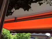 Markise orange/braun