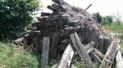 Massive alte Holzbalken