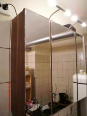 Moderner 3-teiliger Spiegelschrank fürs Bad