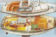 Motor Segelboot Yacht