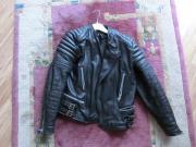 Motorradlederjacke, Gr. 50