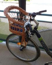 Neuer Kinder Weidekorb als Fahrradsitz