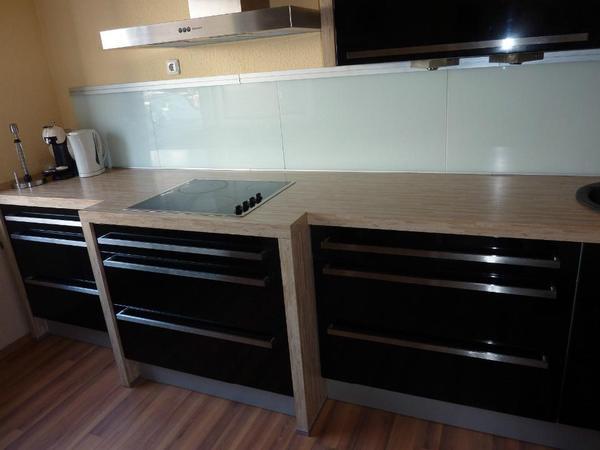 Nolte Küche Küchenzeile Komplettküche hochglanz schwarz viele ...   {Küchenzeilen 93}
