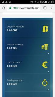 Onecoin Konto
