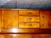 Original 50er-Jahre- Schleiflack- Kirschbaum - Nachttisch