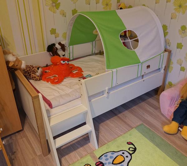 Paidi Kinderzimmer Leo Rico Bett Schrank Kommode Wickeltisch Zelt in ...