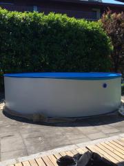 Pool - Stahlwand