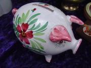 Porzellan Sparschwein aus den 50ern