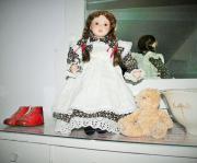Porzellanpuppe Puppe 46 cm romantisch