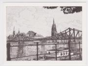 Postkarte Frankfurt am Main Schaumainkai