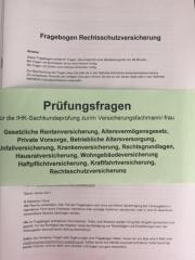 Prüfungsfragen Versicherungsfachmann/-frau