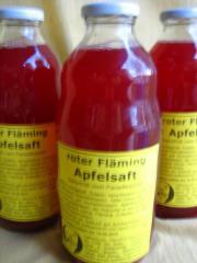 Roter Fläming Apfelsaft naturtrüber Apfel-Holundersaft