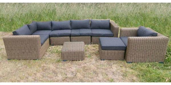 rund polyrattan gartenm bel poly rattan lounge sitzgruppe gartengarnitur baltrum in much. Black Bedroom Furniture Sets. Home Design Ideas