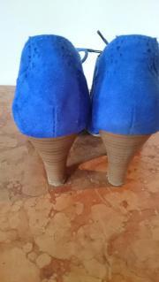 d919731f6f90dd ... Bild 4 - Schuhe Pumps zum Schnüren blau - Schechen