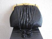 Schwarze Pailetten Damenhandtasche fast wie