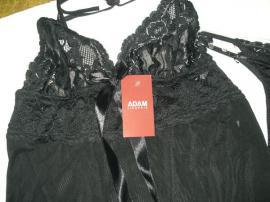 Damenbekleidung - schwarzes Negligee - Babydoll - Nachthemdchen mit