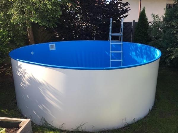 Brandneu Schwimmbad Pool Poolset Stahlwandbecken rund,Durchmesser 3,5m  QN12