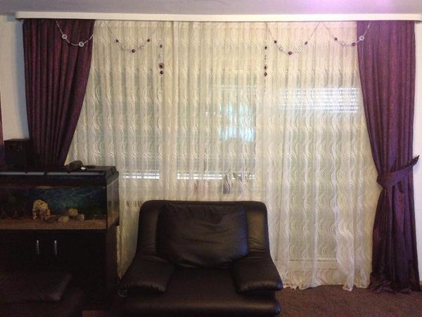 sehr sch ne vorhang gardine perde deko dekostoff glitzer in schw bisch gm nd gardinen. Black Bedroom Furniture Sets. Home Design Ideas