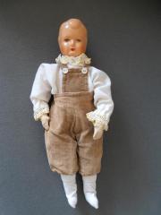 seltene antike Puppe mit Celluloid-