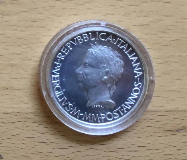 Silbermünze 500 Lire Italien 1981 Zum 2000 Todestag Des Dichters