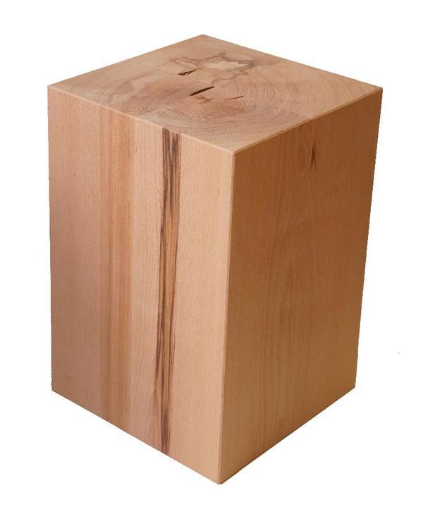 Sitzblock holz block sitzhocker buche tisch hocker w rfel for Beistelltisch holzblock
