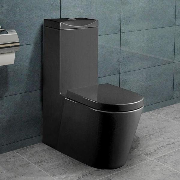 stand wc toilette nano beschichtung soft-close schwarz in hamburg, Hause ideen