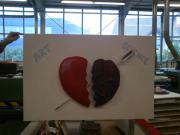 Styrodur Herz auf